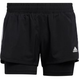 adidas Pacer 3-Stripes 2 In 1 Løpeshorts Dame