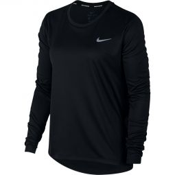Nike Miler LS Løpe T-skjorte Dame