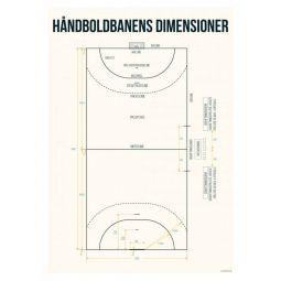 Håndballbane Plakat